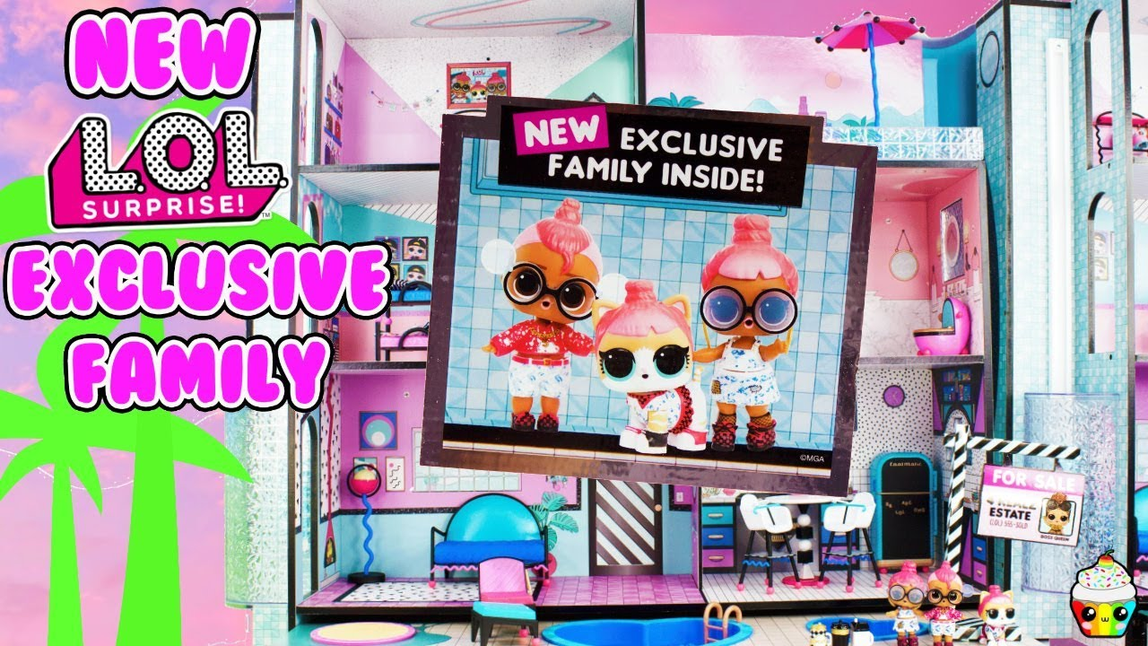 Lol Surprise House New Exclusive Family New House Cupcake Kids Club Youtube