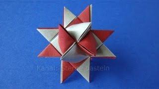 Fröbelstern - Origami Stern basteln - Fröbelsterne Anleitung - Weihnachtssterne falten