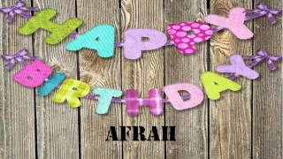 Afrah   Wishes Birthday