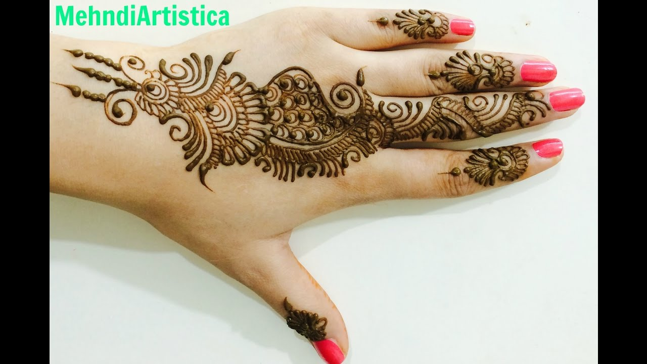 too easy yet beautiful arabic mehndi designs for hands upper side heena mehandi by. Black Bedroom Furniture Sets. Home Design Ideas