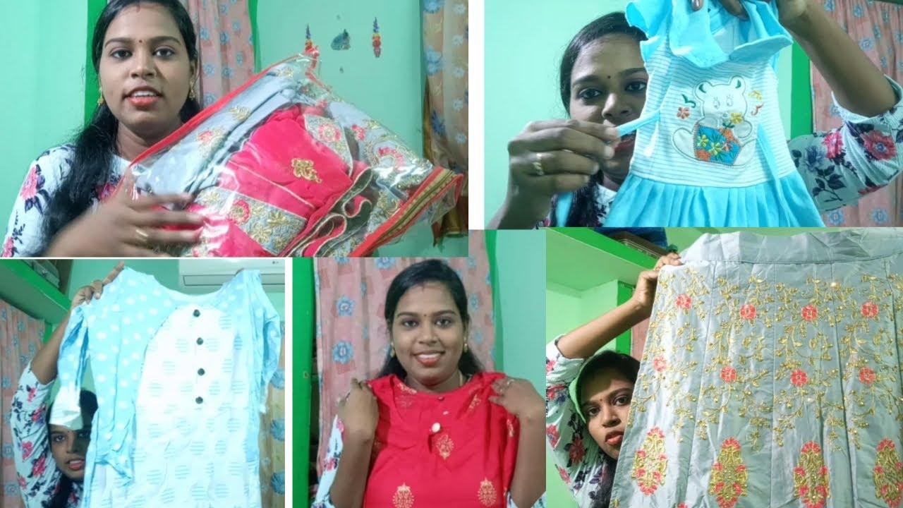My latest shopping / kurtas,lehenga,saree,baby dresses //Flavistyle