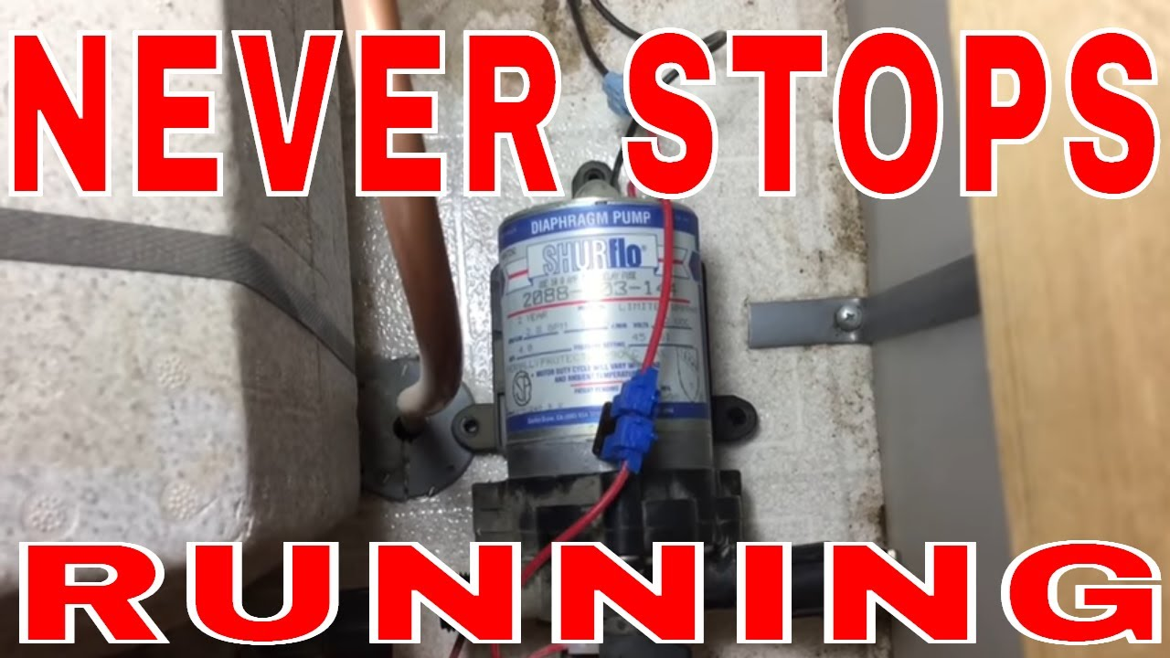Rv Water Pump Continuously Running Shurflo 2088 403 144 Diy Fix Pressure Switch Should Only Be Done On The S