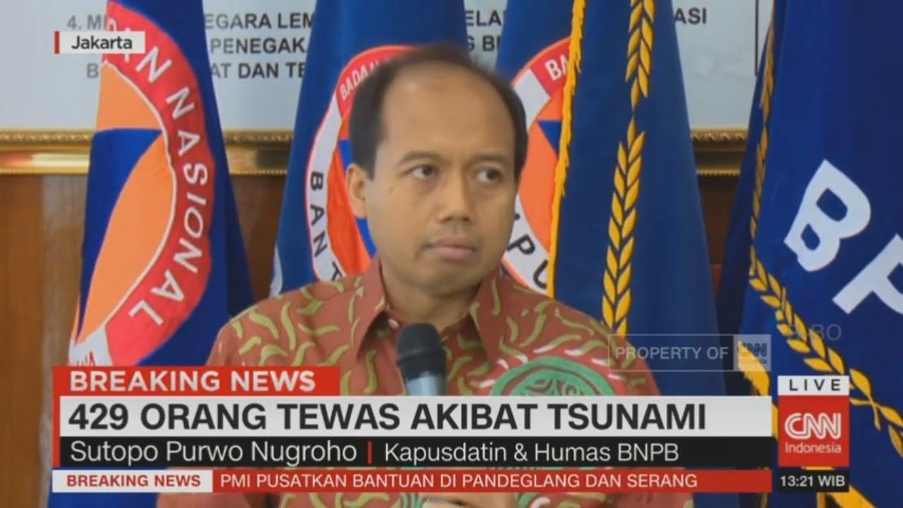 Update Tsunami Selat Sunda: 429 Korban Meninggal, 1.485 Orang Luka-luka