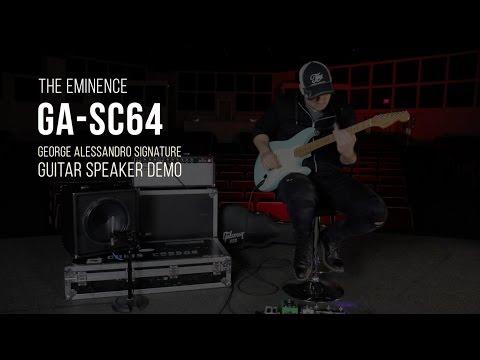 Eminence GA-SC64 Guitar Speaker Demo