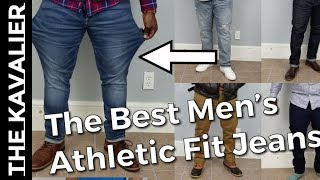 The Best Jeans for Muscular Men | Athletic Denim for Fit Men