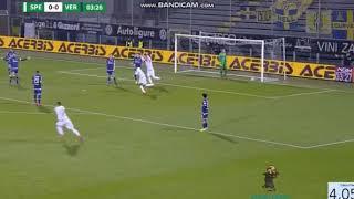 Spezia 1-0 Hellas Verona - Luca Mora 5' (Puskas material)