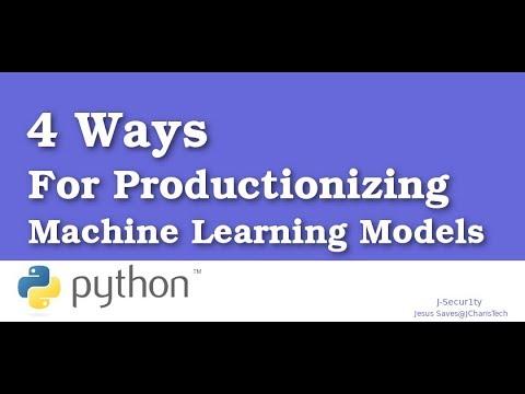 Four Ways to Productionize Machine Learning Models