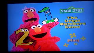 123 Sesame Street Home Video The Great Numbers Game Australian DVD