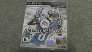 MADDEN NFL 13 EARLY UNBOXING! (ONE DAY BEFORE RELEASE!)
