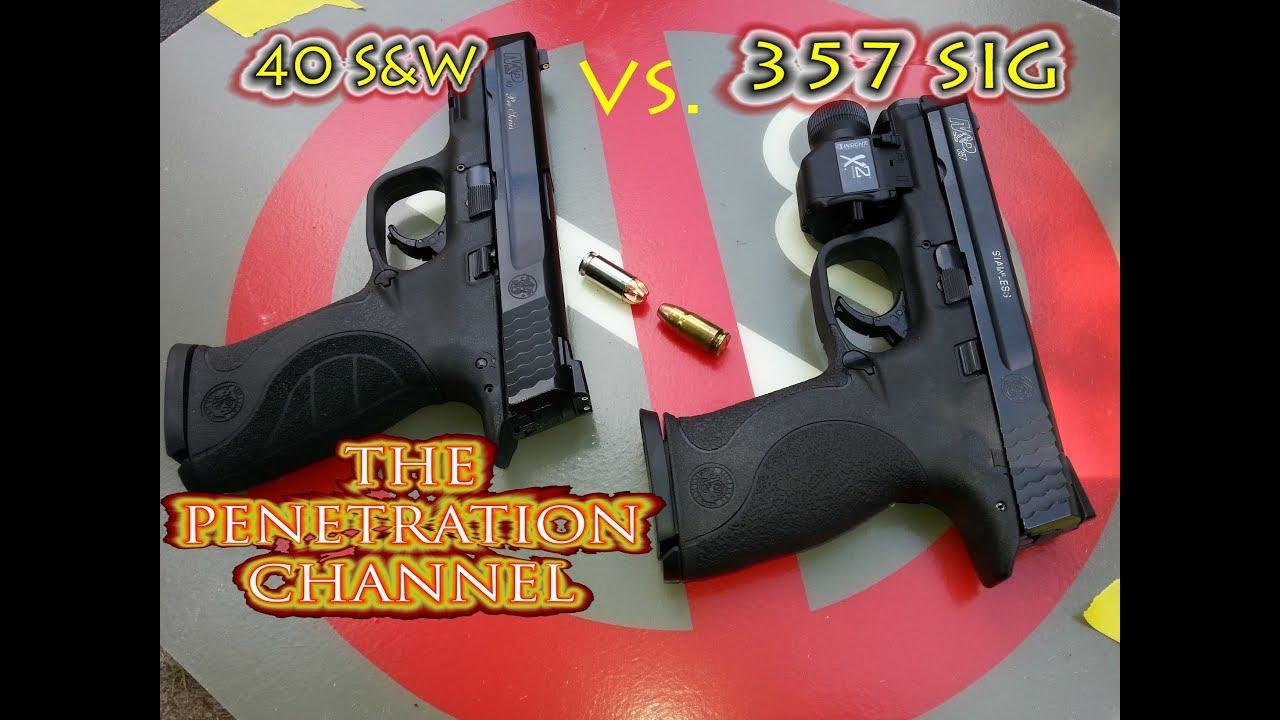 40 S&W vs  357 SIG (Part 7) (Underwood Ammo vs  Winchester White Box)