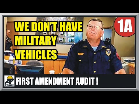 ARMORED VEHICLES IN NEBRASKA ?? Interview with the LT - First Amendment Audit - Amagansett Press
