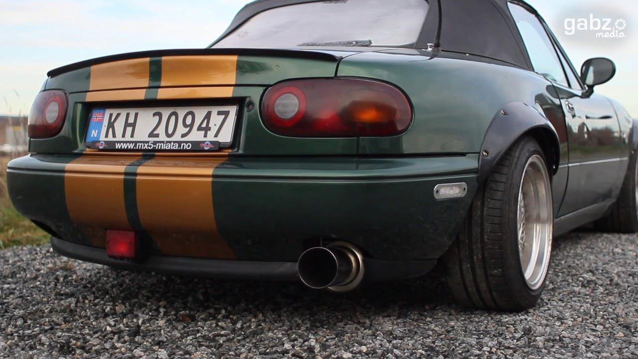 Stock vs  Manzo Catback Exhaust Sound | Mazda Miata/MX-5