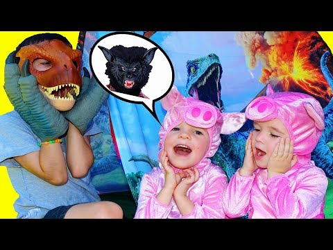 3 Little Pigs See Jurassic World DINOSAUR...