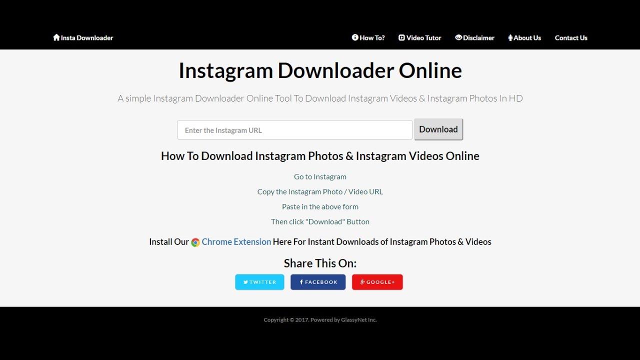 Instagram Downloader Online- Photos & Video Downloader - YouTube