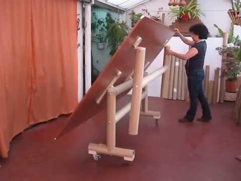 Mesa con tubos de cart n youtube - Muebles de carton ...