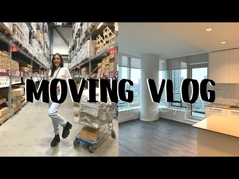 MOVING VLOG #1: Apartment Hunting, Getting Approved, Packing and IKEA Haul   Emma Rose
