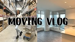 MOVING VLOG #1: Apartment Hunting, Getting Approved, Packing and IKEA Haul | Emma Rose