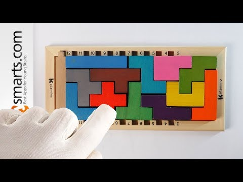 Challenging Logic Wooden Puzzle Game for Kids - toy demo (preschool and up)