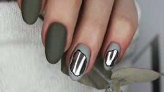 Дизайн ногтей втиркой Сколько времени у меня уходит на видео Наращивание на себе