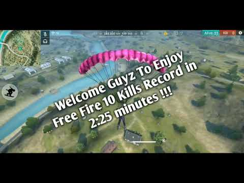Free Fire 10 Kills In 2:25 Minutes