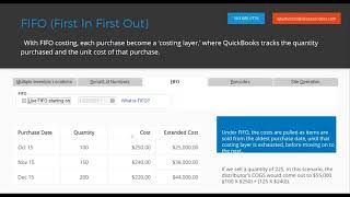 Go live with QuickBooks Advanced Inventory - First in First Out (FIFO)