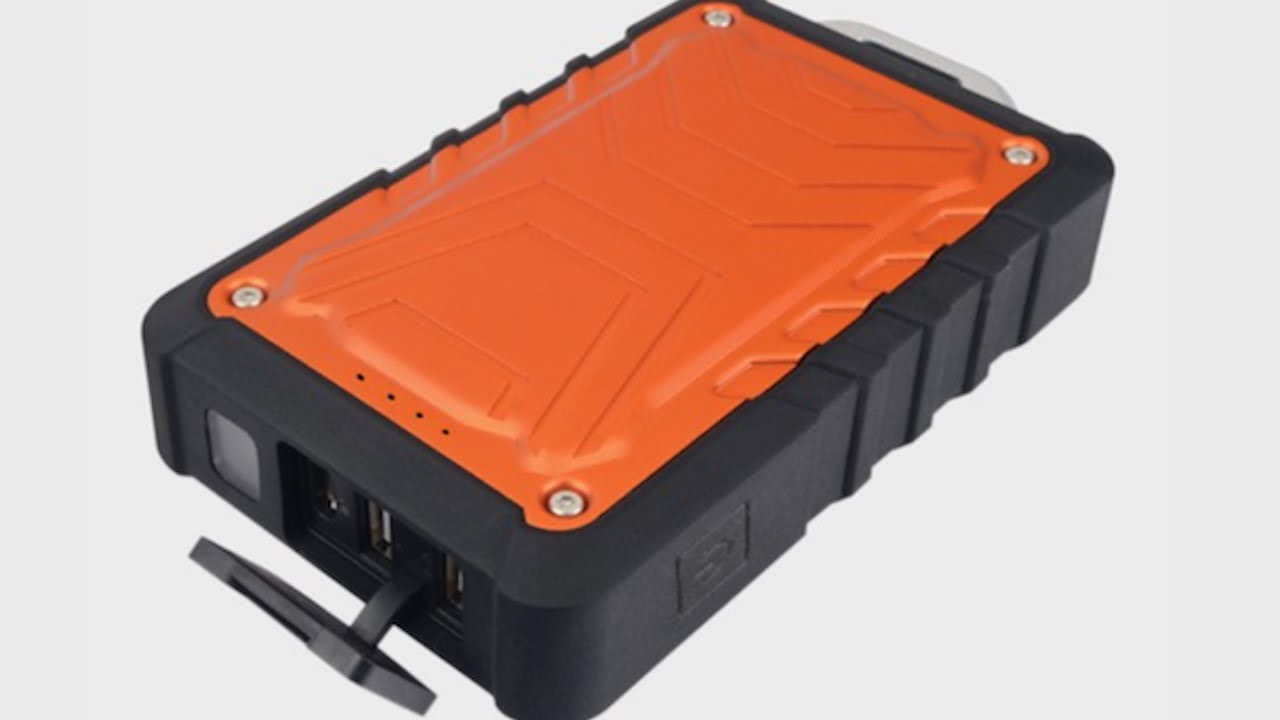 new product 630d2 359aa ToughTested Rugged, Weatherproof 8000 mAh Dual USB Battery Pack
