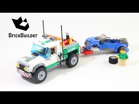 Lego City 60081 Pickup Tow Truck - Lego Speed Build - YouTube