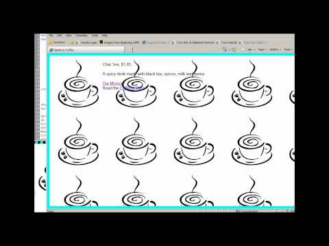 Expression Web: How To Set A Background Image And Position It Without The Image Repeating