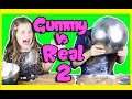 GUMMY VS REAL FOOD CHALLENGE 2 Taste test Candy - Healthy - gross - Kids react - Kid freaks out!
