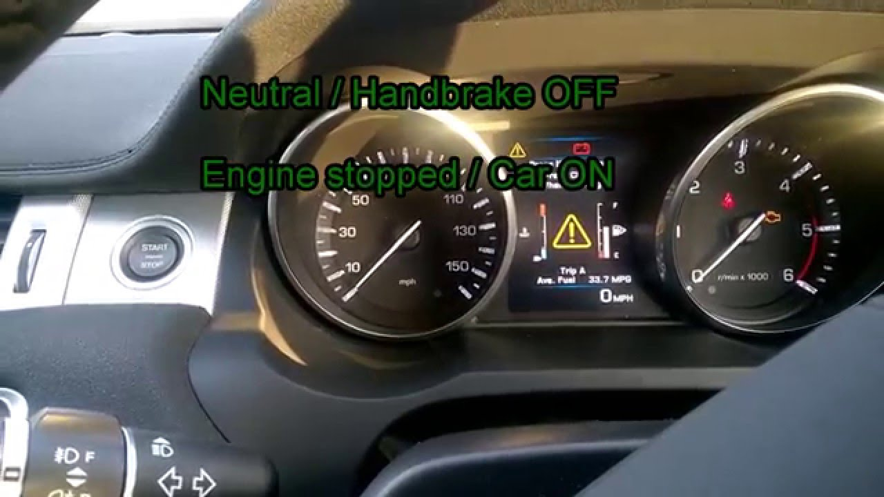 Land Rover Evoque >> Evoque EPB Maintenance Mode - YouTube