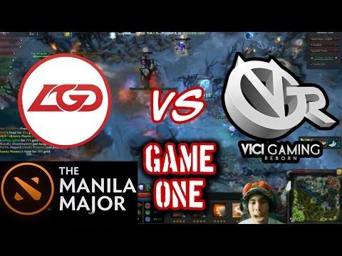 LGD Vs Vici Gaming Reborn Game 1 | Manila Majors | Peenoise Shoutcast w/ GLOCO