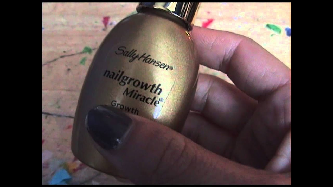 Sally Hansen Nail Growth Miracle Review - YouTube