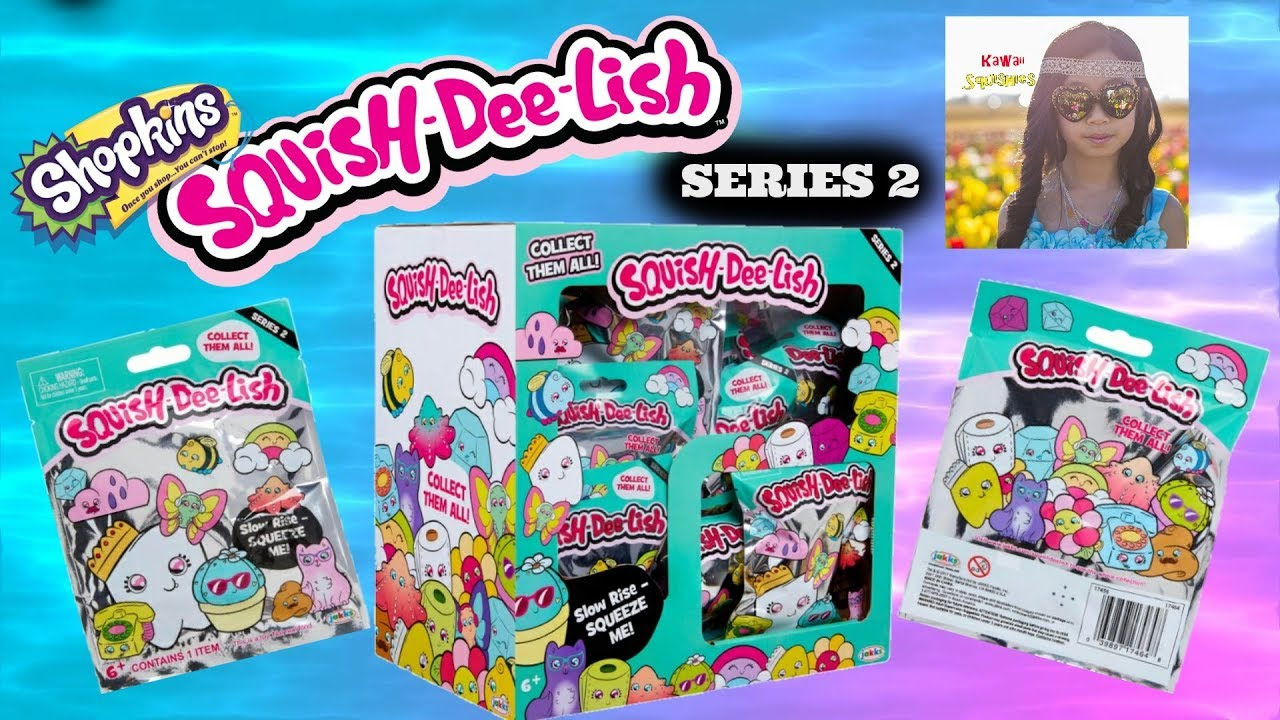 Squish Delish Blind Bags : SHOPKINS SQUISH-DEE-LISH SERIES 2 SQUISHIES BLIND BAG OPENING ~ WHAT DID I GET? - YouTube