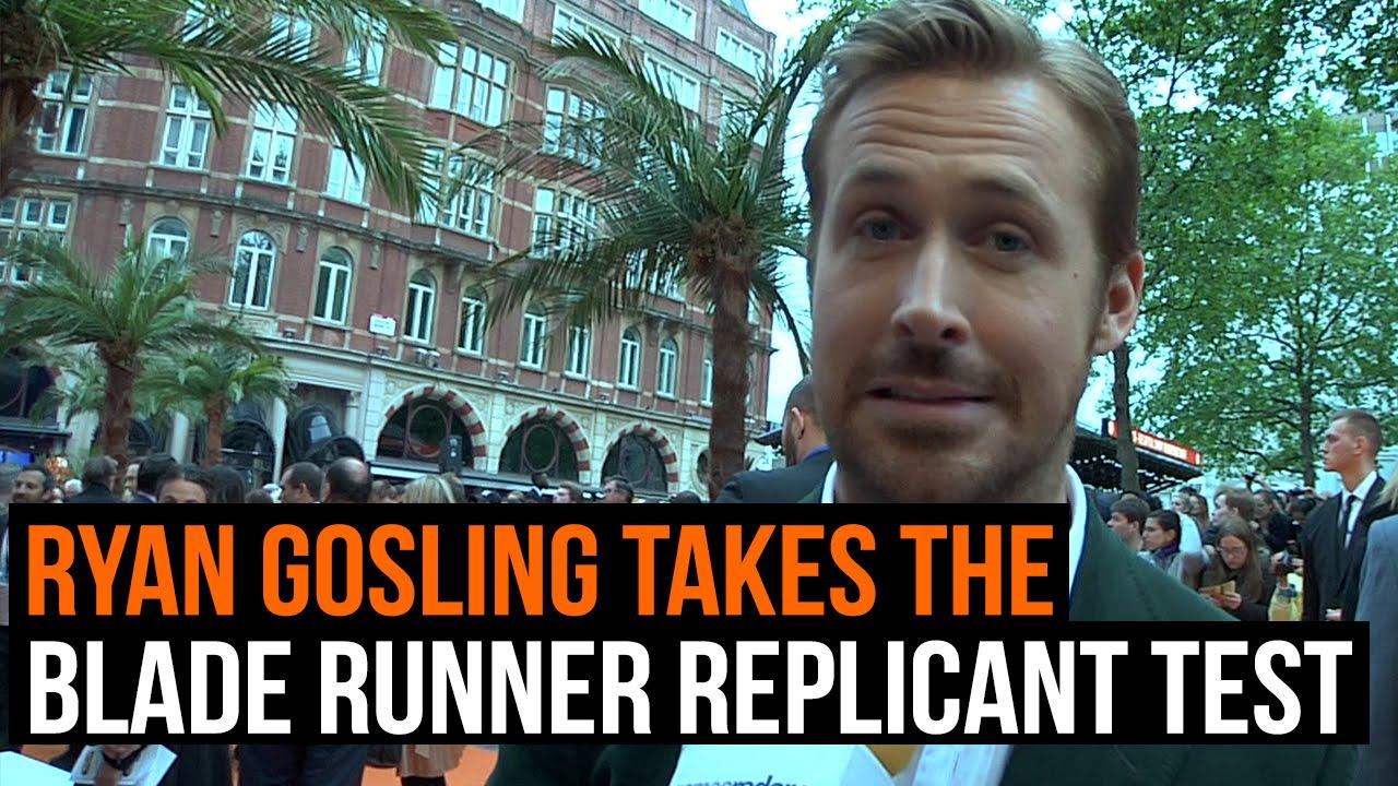 maxresdefault ryan gosling takes the blade runner replicant test youtube