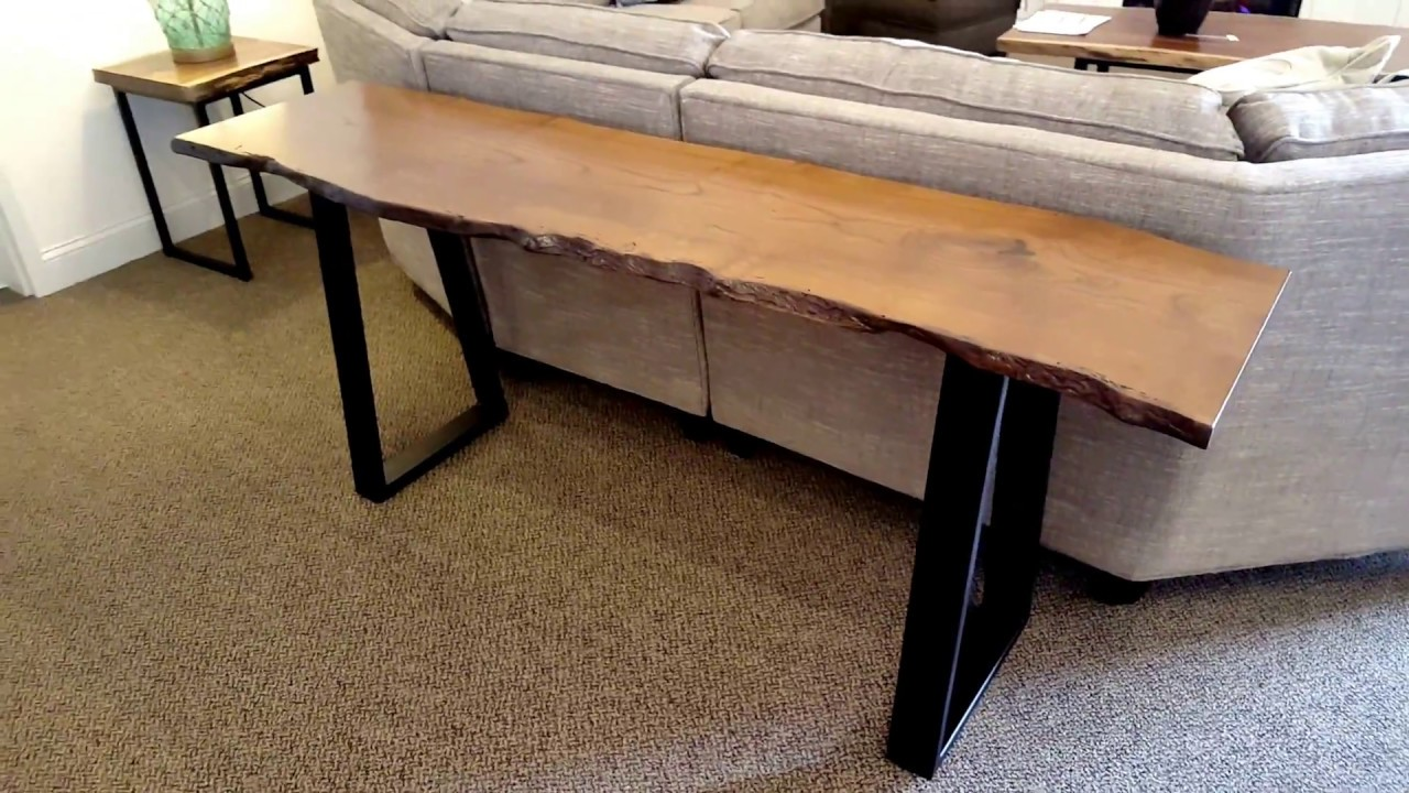 Mulberry Live Edge Metal Sofa Table Country Lane Furniture