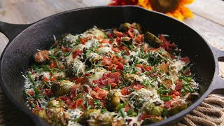 Garlic Parmesan Bacon Brussels Sprouts