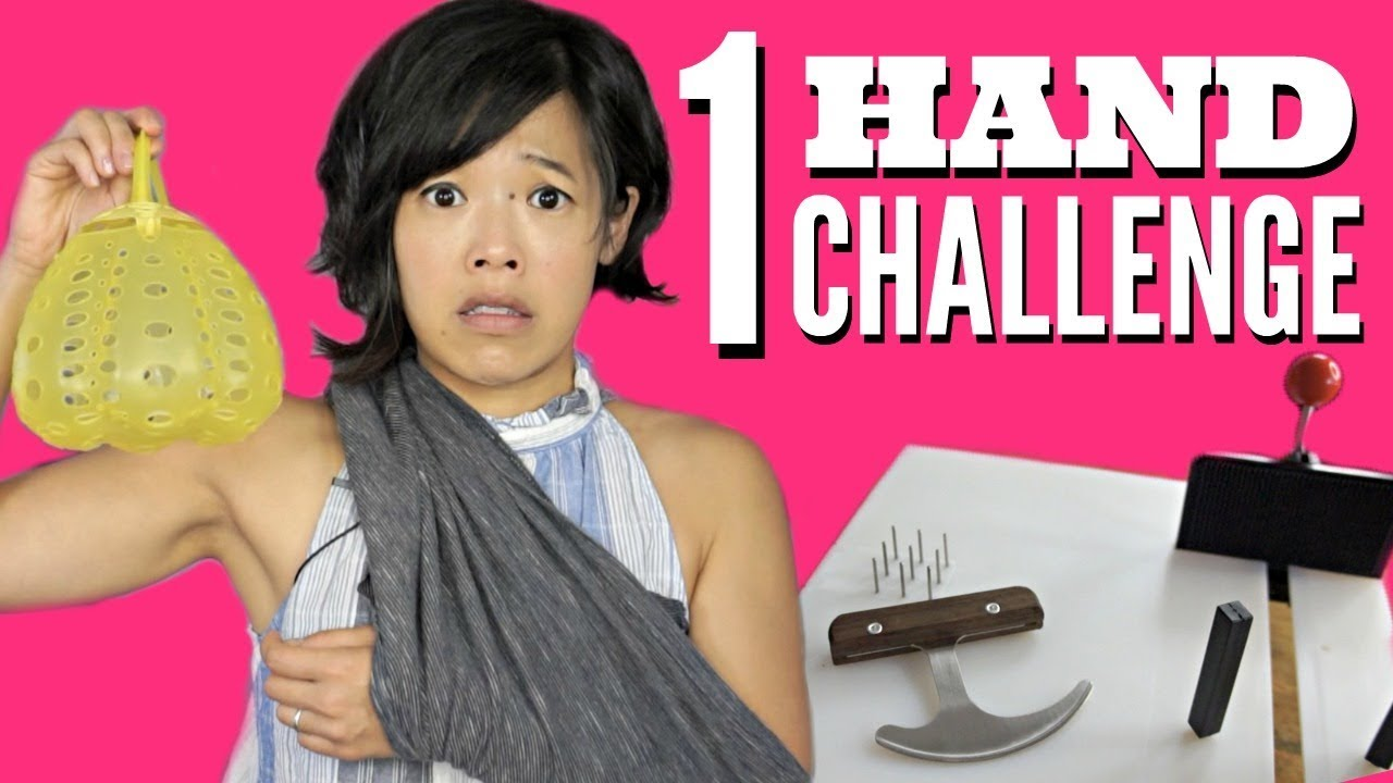 ONE HANDED COOKING CHALLENGE - Adaptive KITCHEN GADGETS Test - Does it Work?