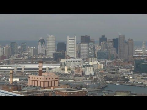 Jetblue A320 - Boston approach & views of Downtown Boston.