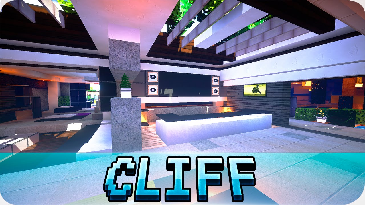 Minecraft - Modern Cliffside House Design - Cinematic & Map Download on minecraft modern house render, minecraft cliff side house, minecraft modern lake house, minecraft modern mansion house, minecraft modern house on a cliff,