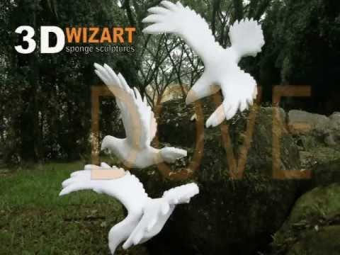 Dove Sponge Sculpture PDF Tutorial - YouTube