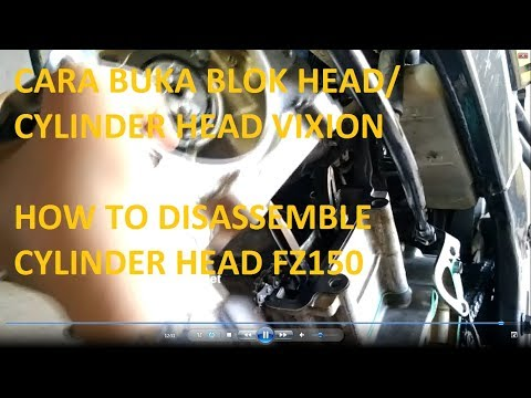 cara buka blok head/ cylinder head vixion / how to