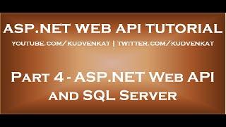 ASP NET Web API ملقم SQL