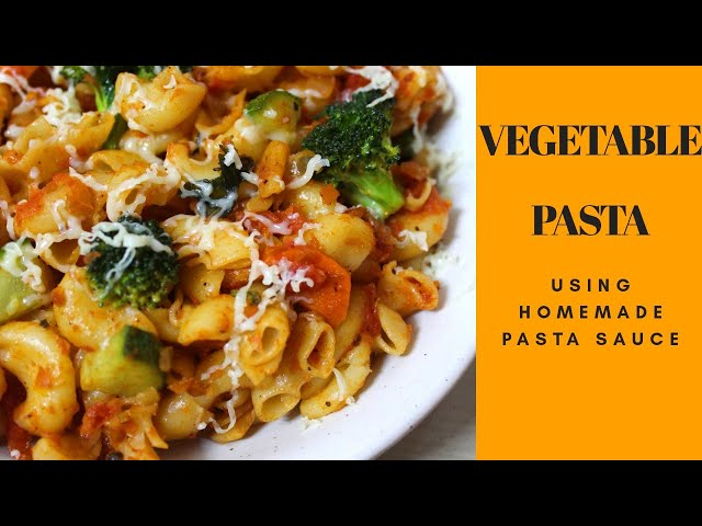 #homemadepastasauce #vegetablepasta #easybreakfast Vegetable Pasta using homemade pasta sauce