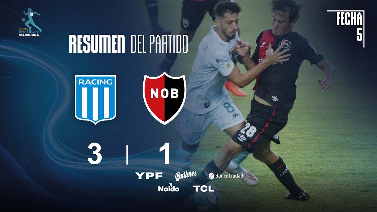 Copa Diego Maradona | Fases | Fecha 5 | resumen de Racing - Newell's