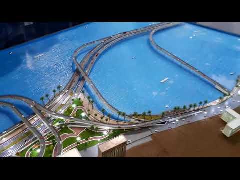 Model of Landmark Mumbai Coastal Road Project