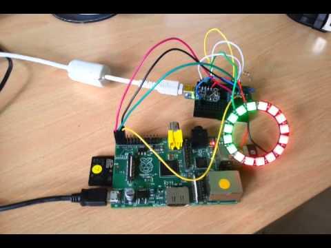 Pi + Trinket + Neopixel Ring via I2C