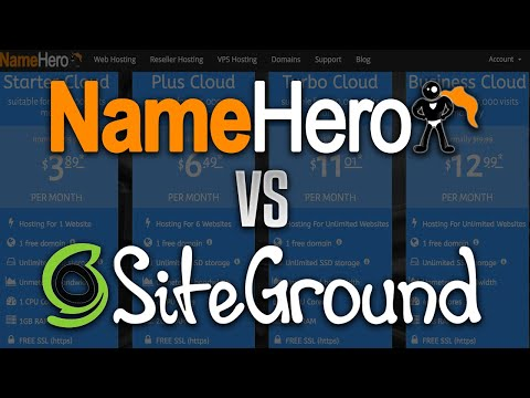NameHero vs. SiteGround – Who Offers The Best WordPress Web Hosting Package?
