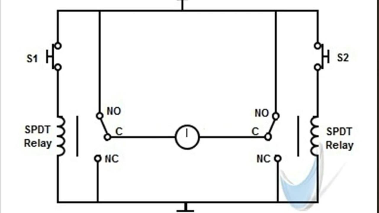 Dual SPDT relay H bridge DC motor controller-Animation