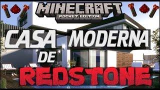LA MEJOR CASA MODERNA DE REDSTONE PARA MINECRAFT PE (0.10.5) 2015