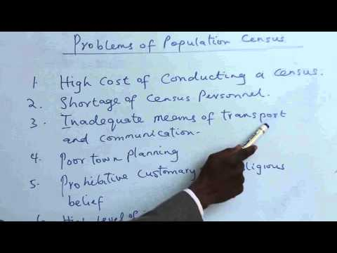 POPULATION - MEANING, THEORIES AND CENSUS